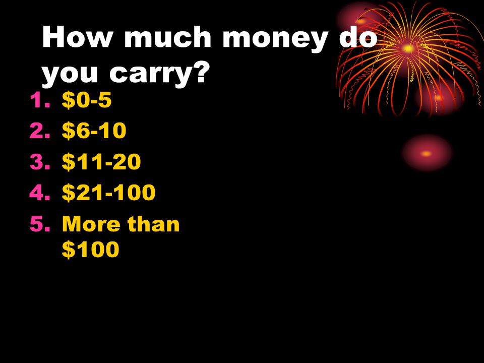 How much money do you carry