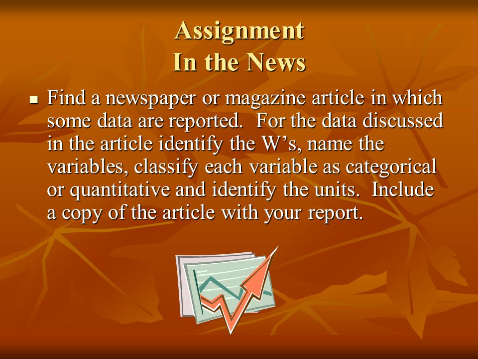 Assignment In the News