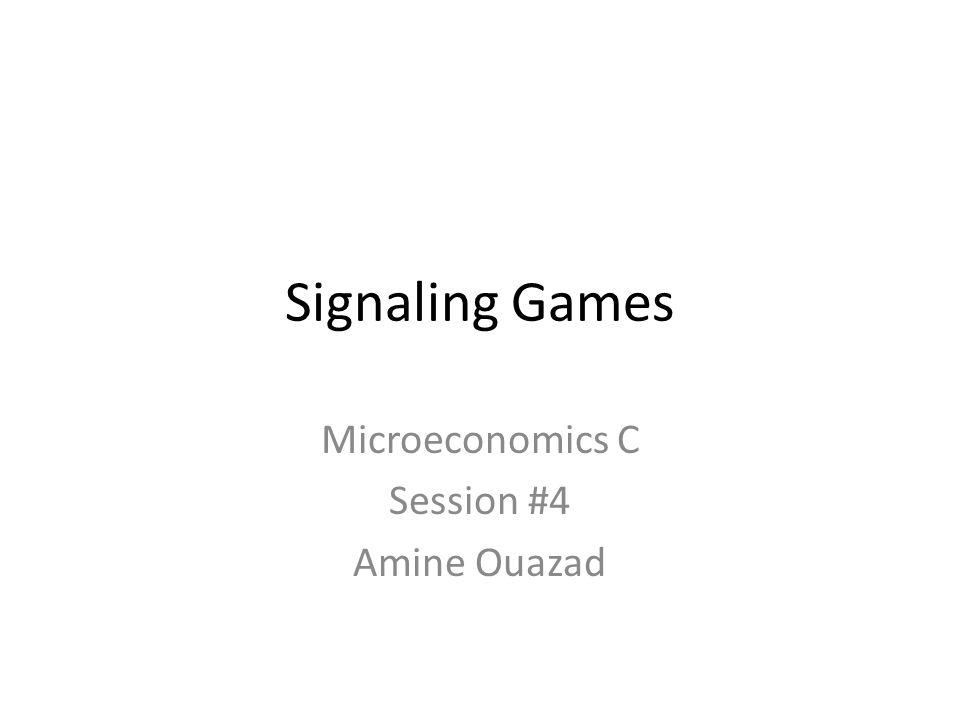 Microeconomics C Session #4 Amine Ouazad