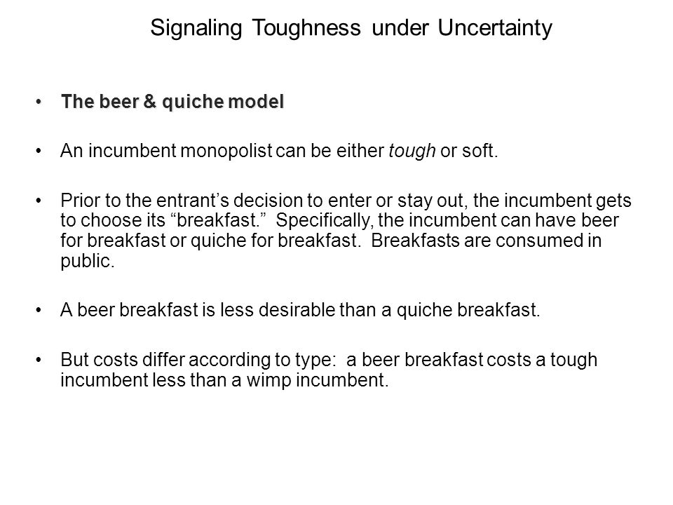 Signaling Toughness under Uncertainty