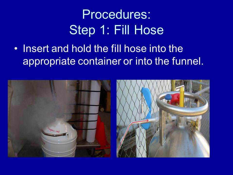 Procedures: Step 1: Fill Hose