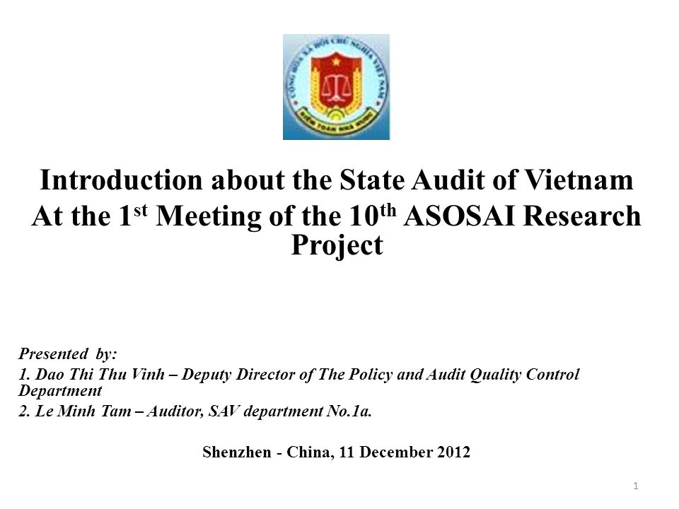 Introduction about the State Audit of Vietnam