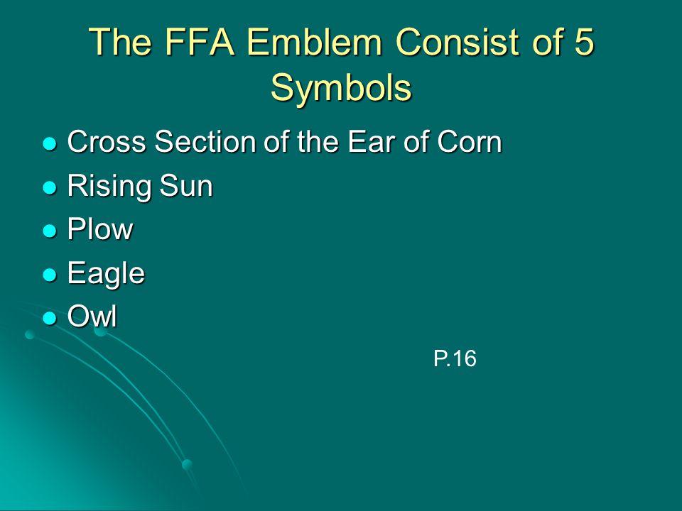 The FFA Emblem Consist of 5 Symbols