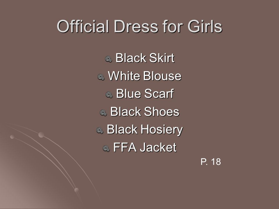 Official Dress for Girls