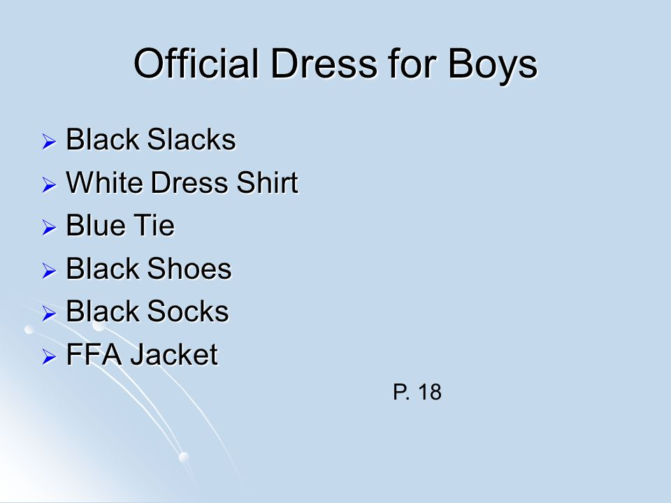 Official Dress for Boys