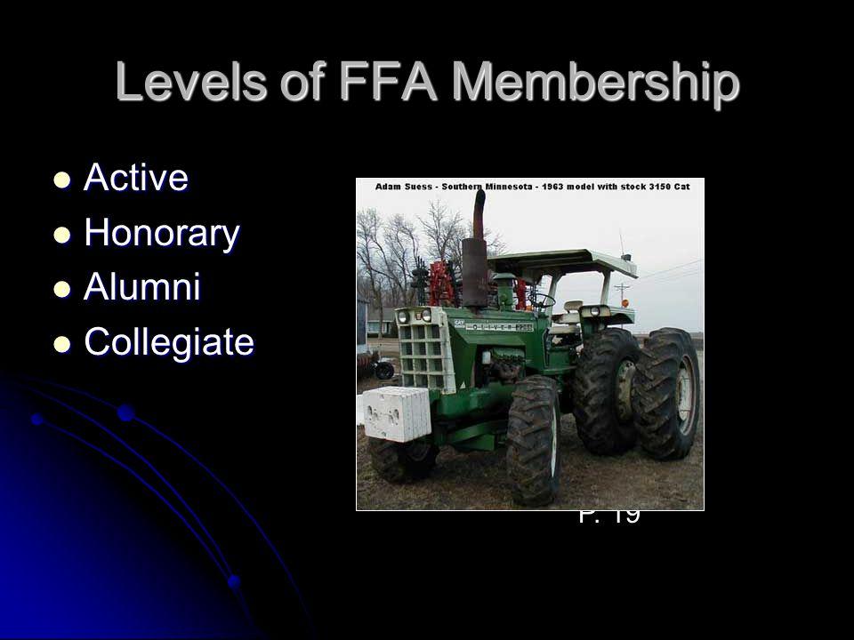 Levels of FFA Membership