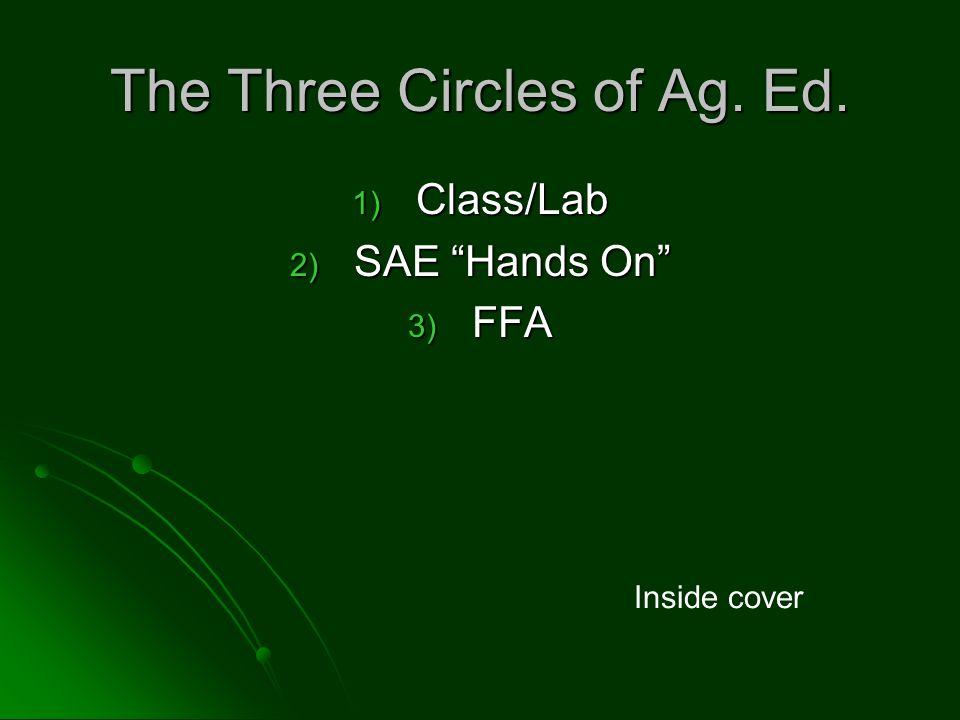 The Three Circles of Ag. Ed.