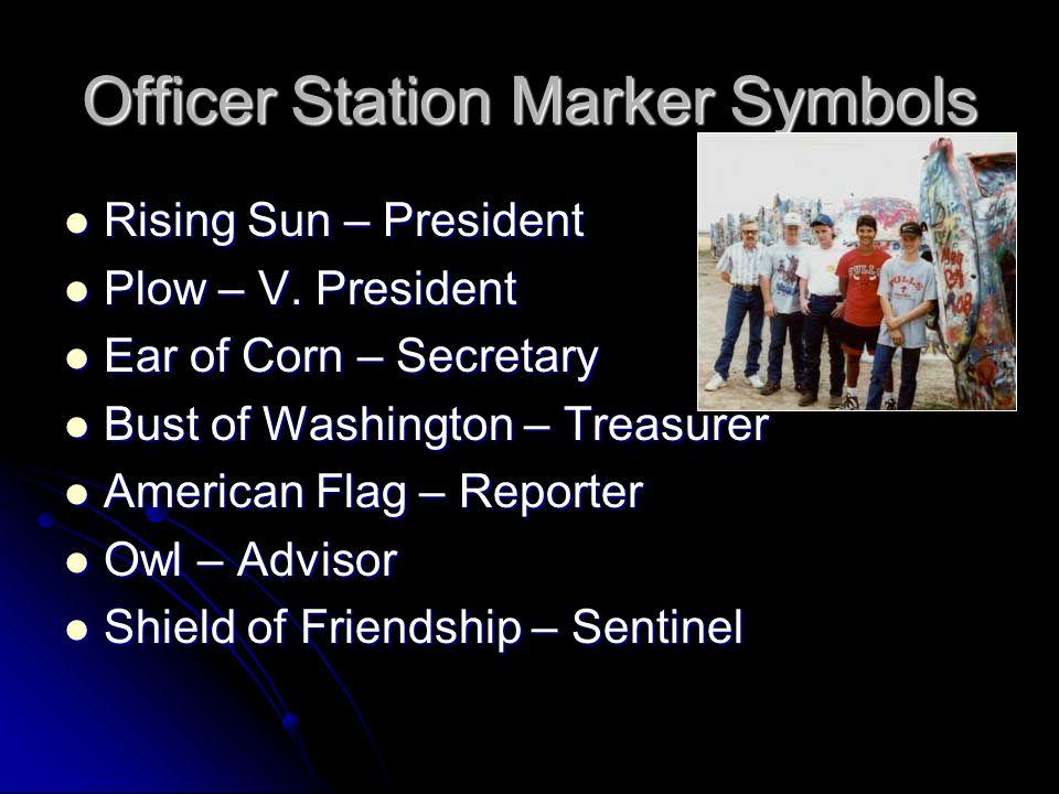 Officer Station Marker Symbols
