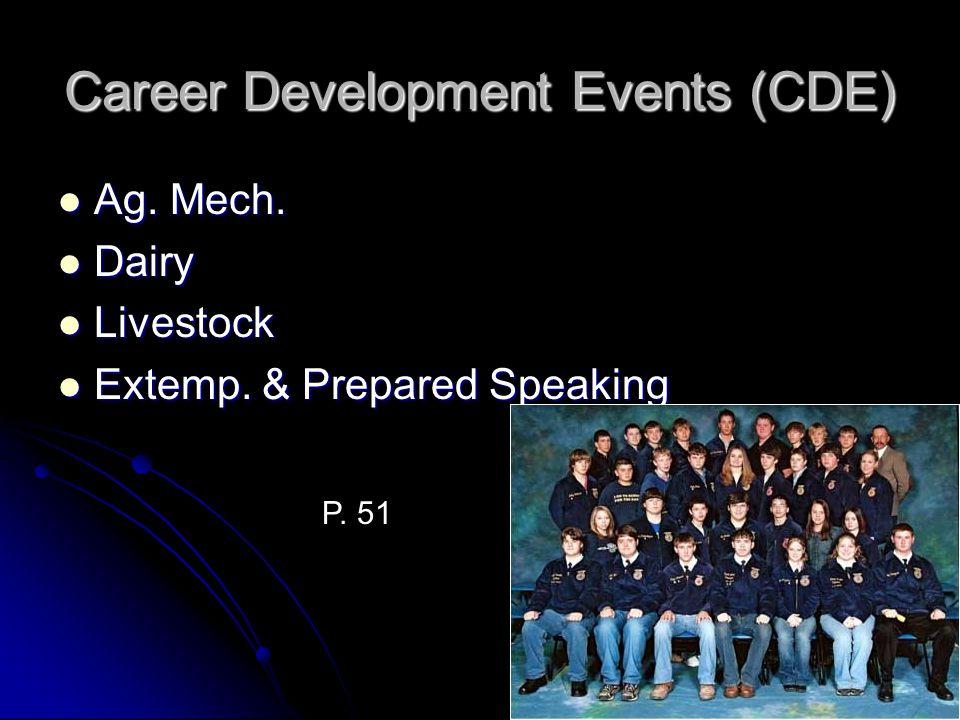 Career Development Events (CDE)