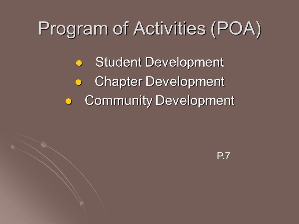 Program of Activities (POA)