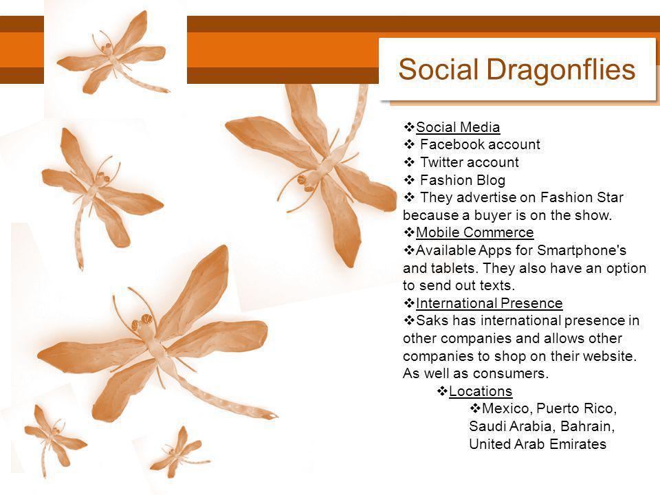 Social Dragonflies Social Media Facebook account Twitter account