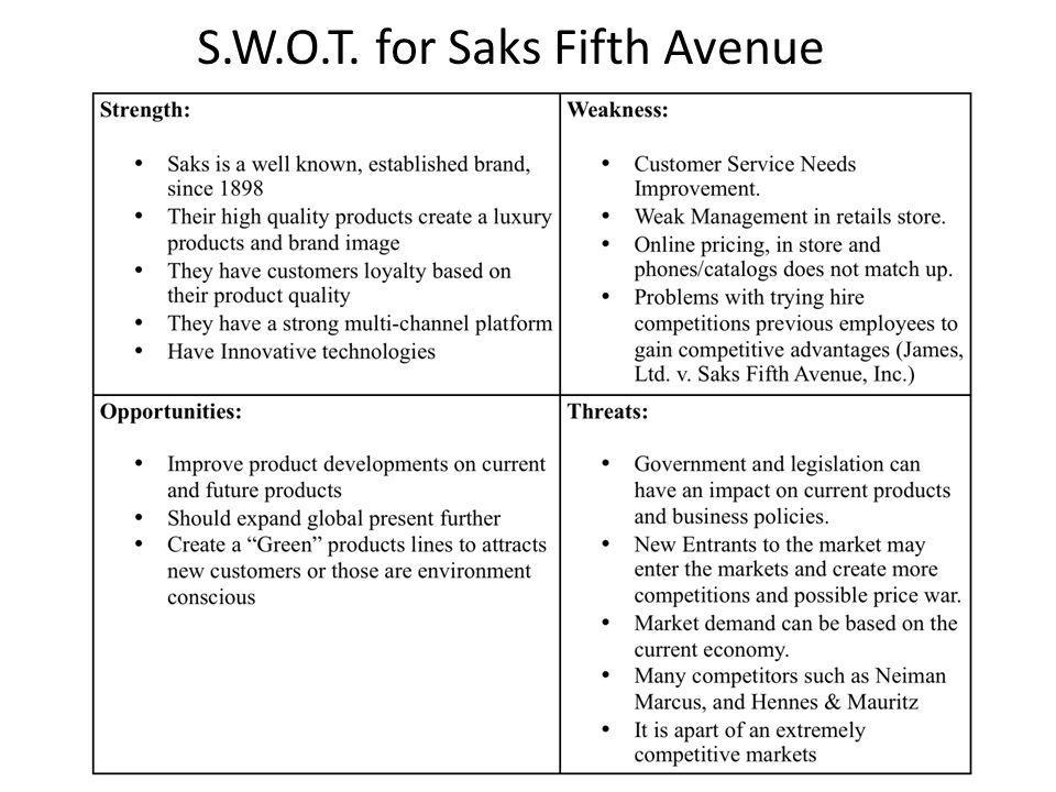 S.W.O.T. for Saks Fifth Avenue