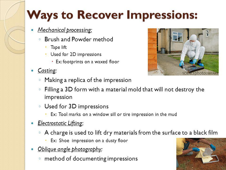 Ways to Recover Impressions: