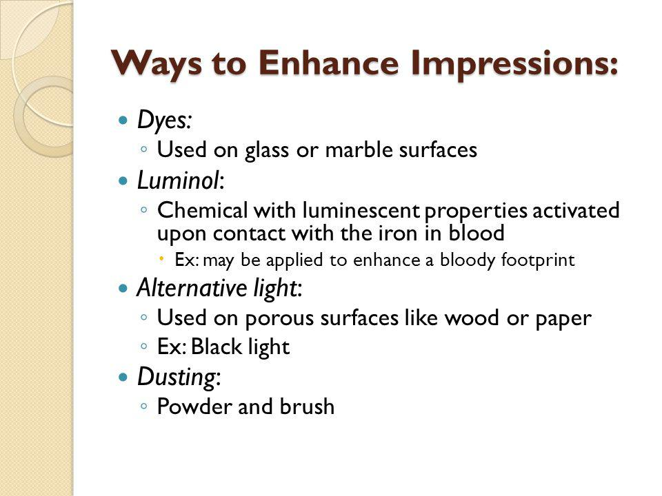 Ways to Enhance Impressions:
