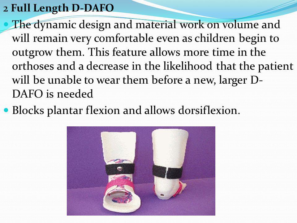 Blocks plantar flexion and allows dorsiflexion.