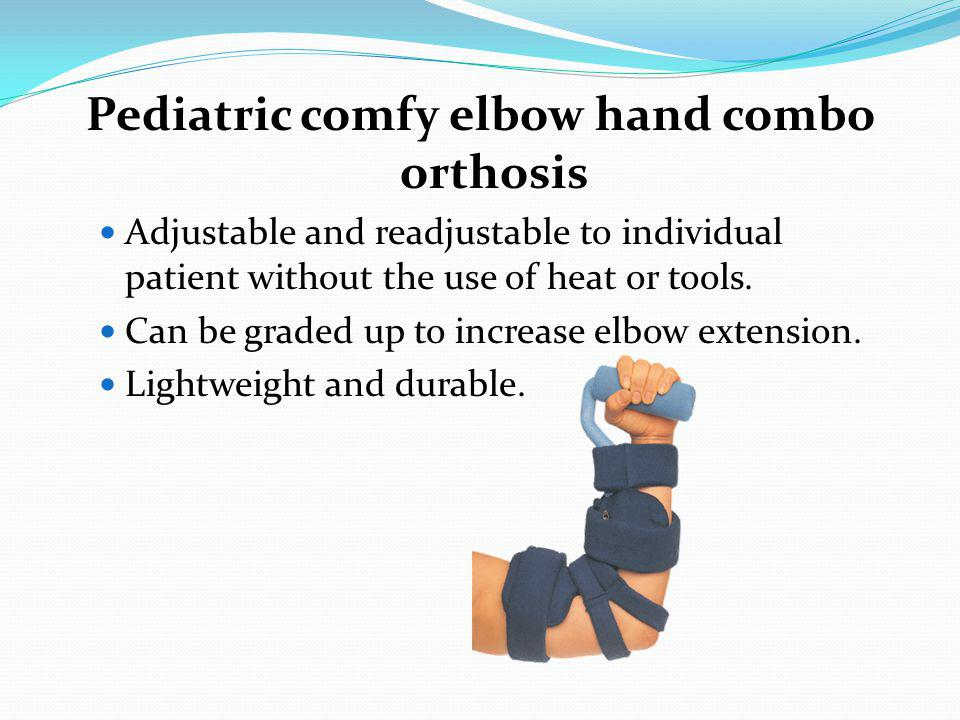 Pediatric comfy elbow hand combo orthosis
