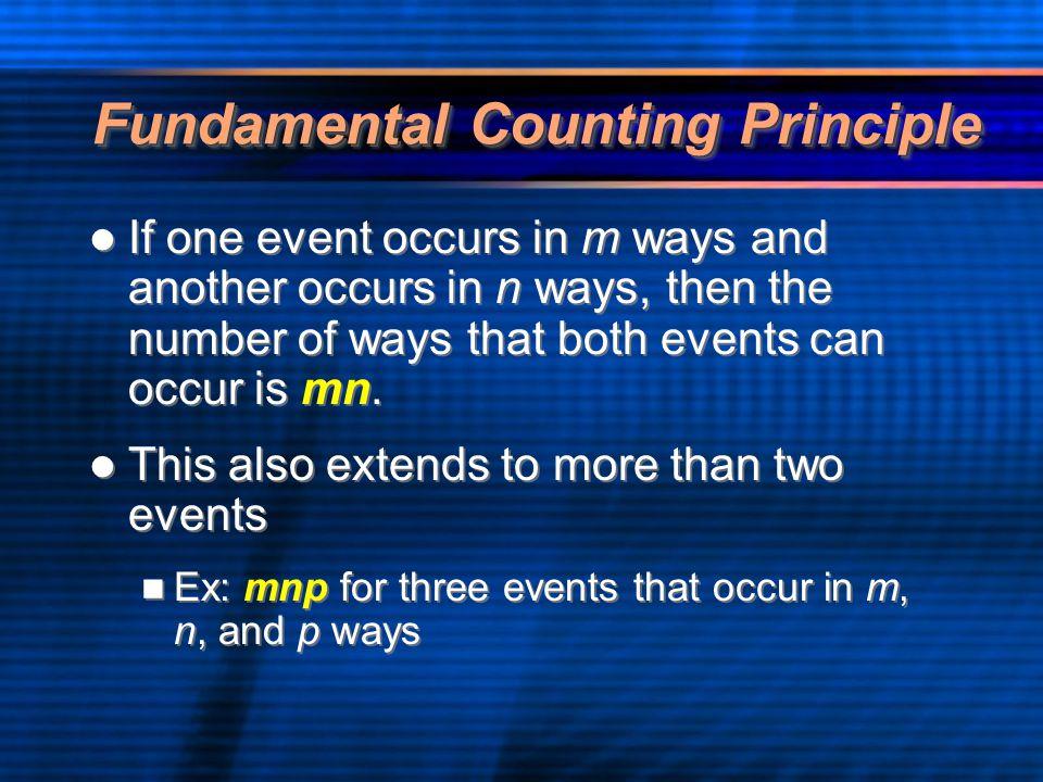 Fundamental Counting Principle