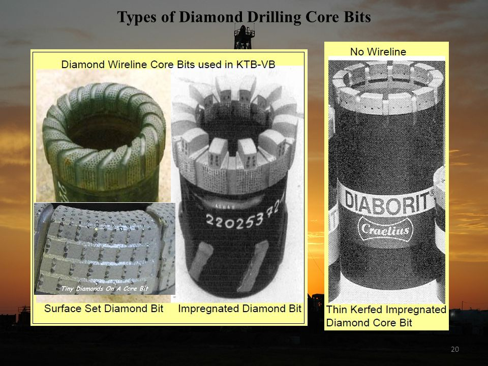 Types of Diamond Drilling Core Bits