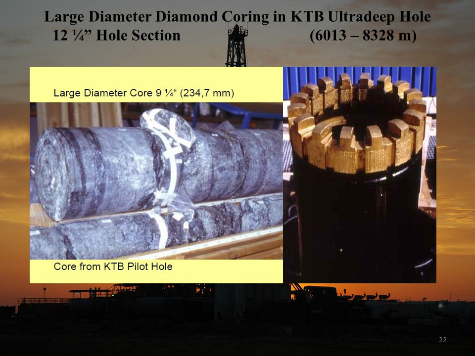 Large Diameter Diamond Coring in KTB Ultradeep Hole