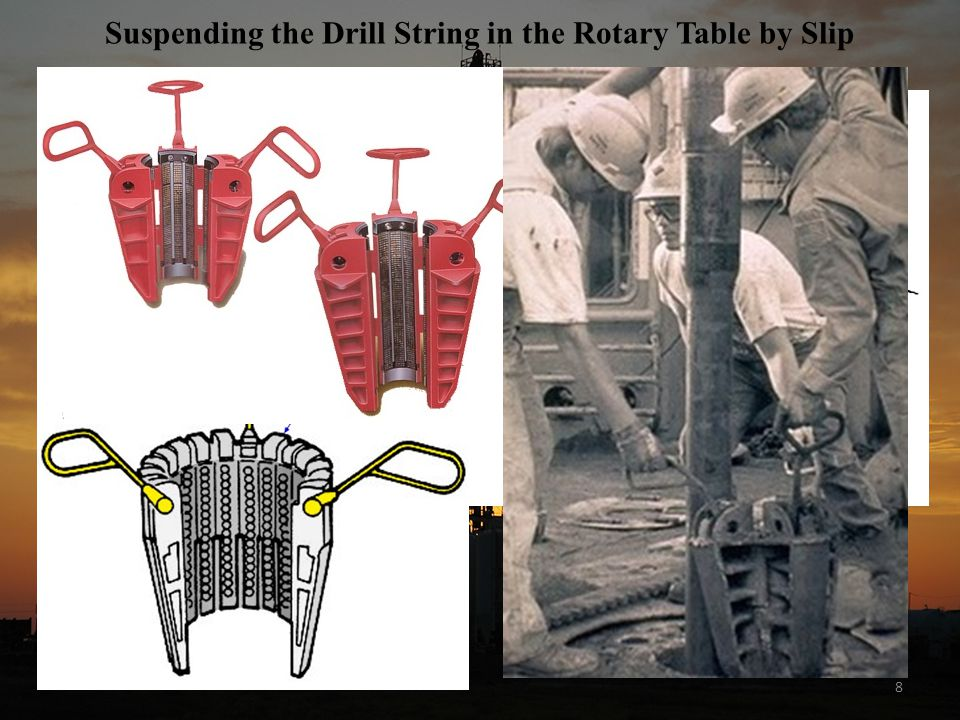 Suspending the Drill String in the Rotary Table by Slip