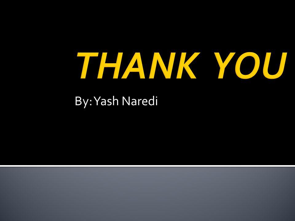 THANK YOU By: Yash Naredi