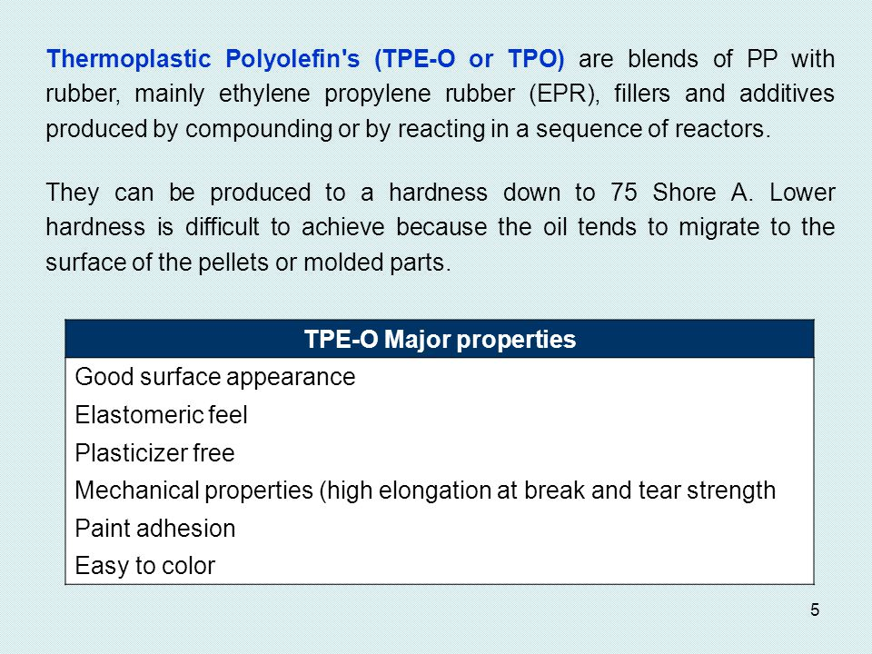 TPE-O Major properties