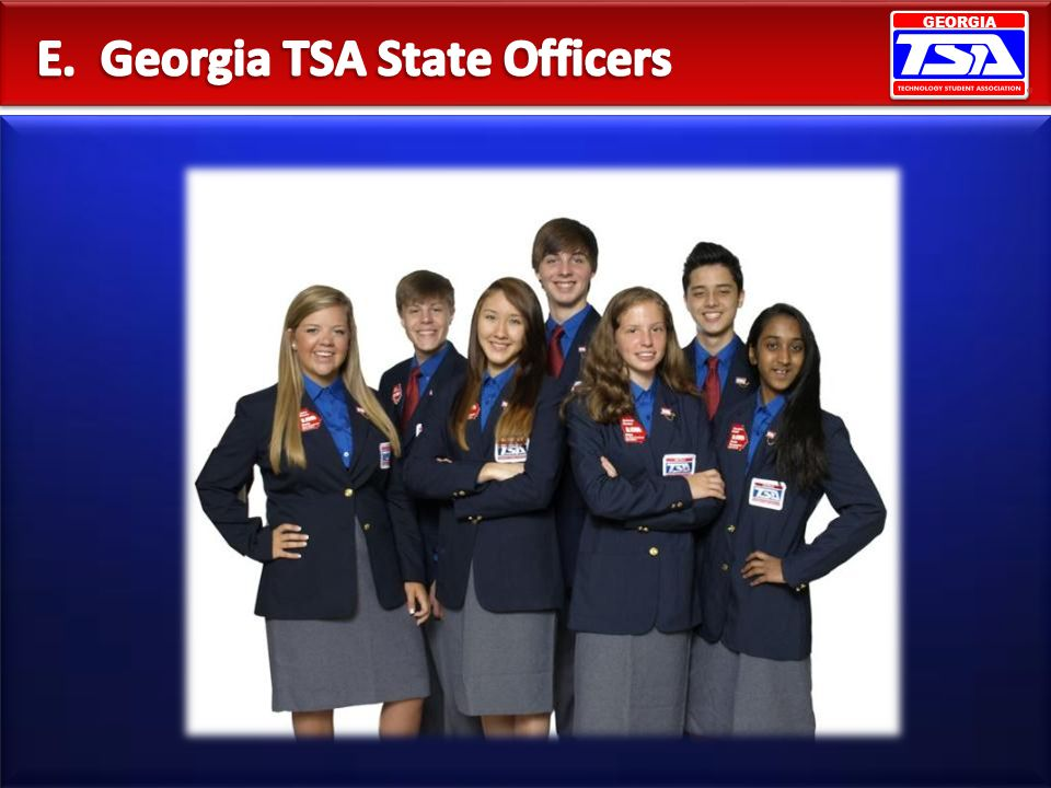 E. Georgia TSA State Officers
