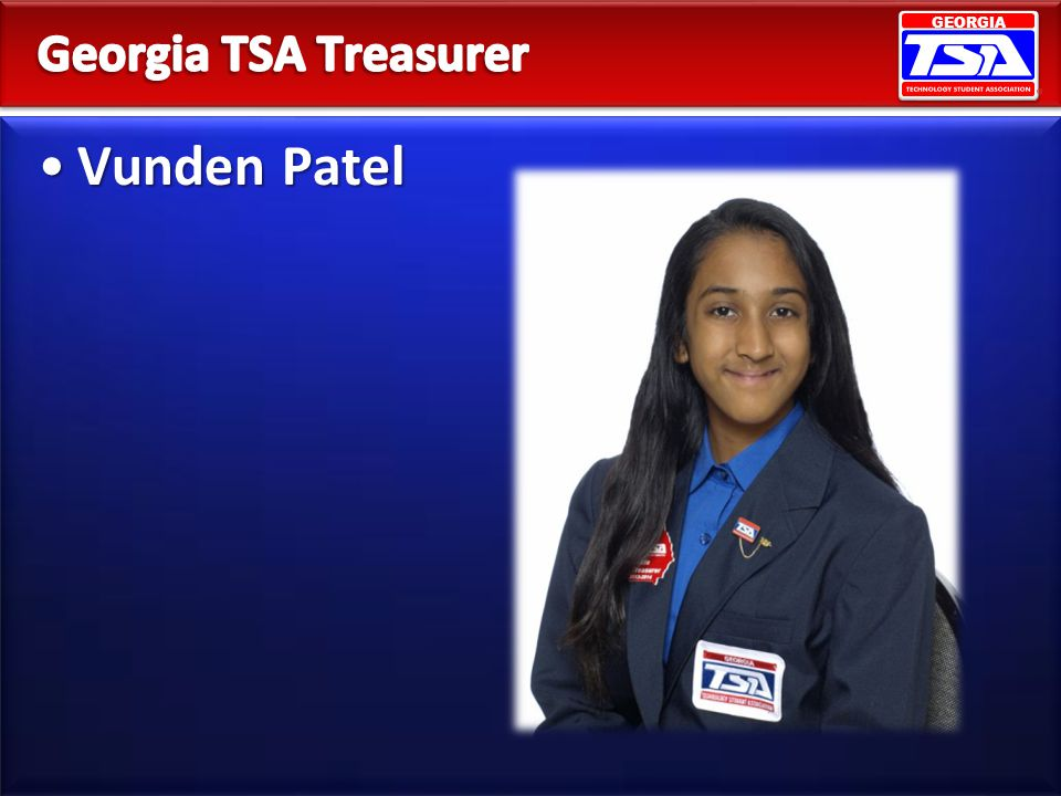 Georgia TSA Treasurer Vunden Patel