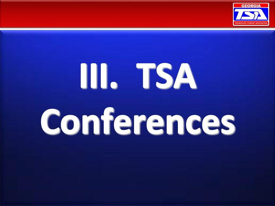 III. TSA Conferences