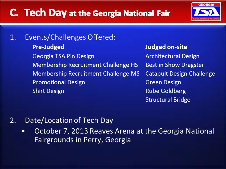 C. Tech Day at the Georgia National Fair