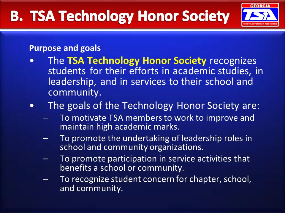 B. TSA Technology Honor Society