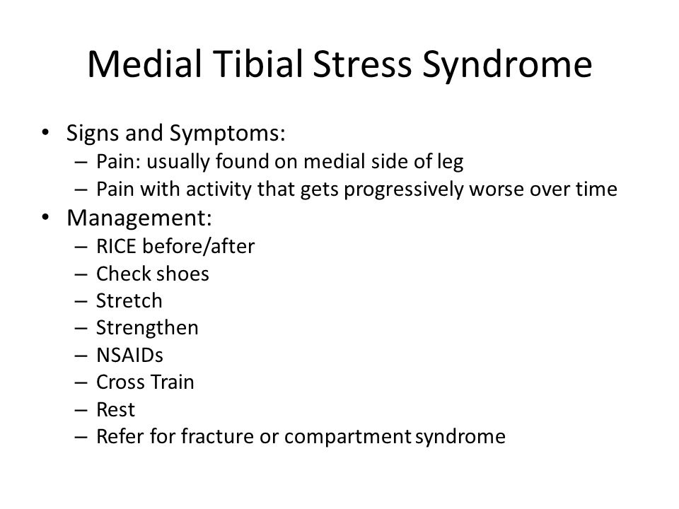 Medial Tibial Stress Syndrome