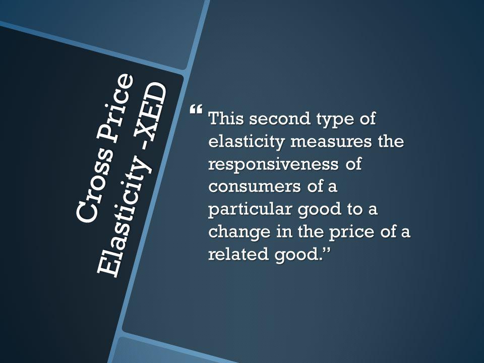 Cross Price Elasticity -XED