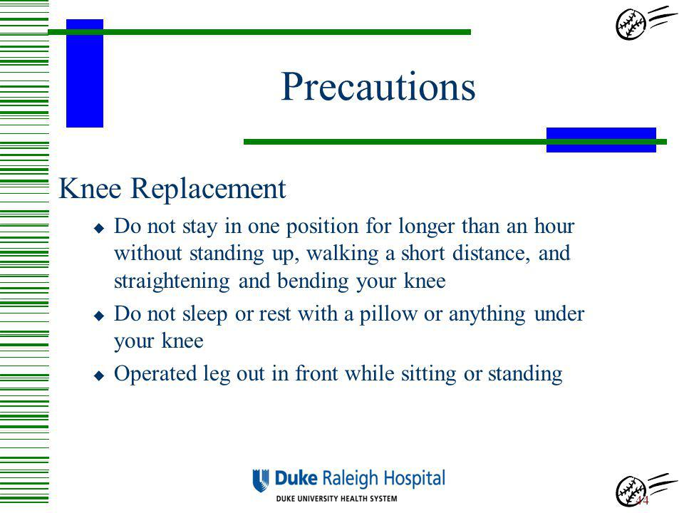 Precautions Knee Replacement