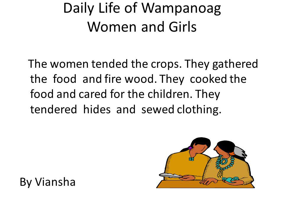 Daily Life of Wampanoag Women and Girls