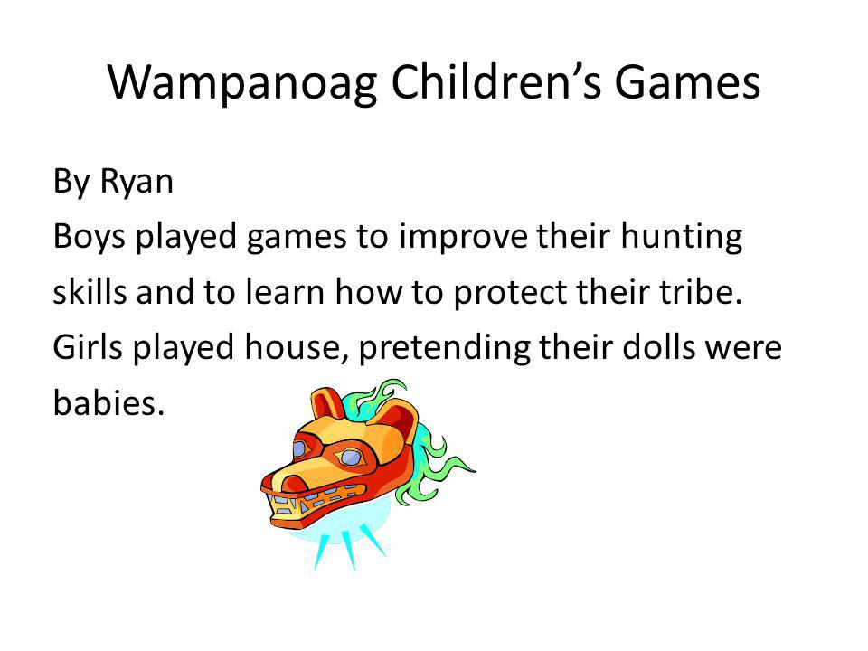 Wampanoag Children's Games