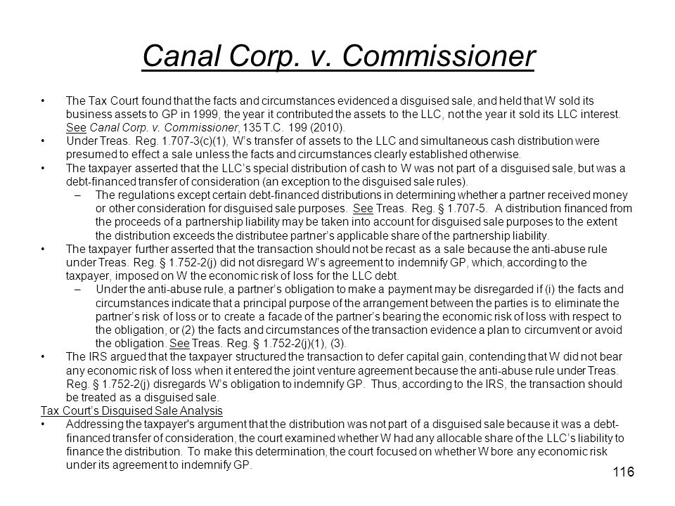 Canal Corp. v. Commissioner