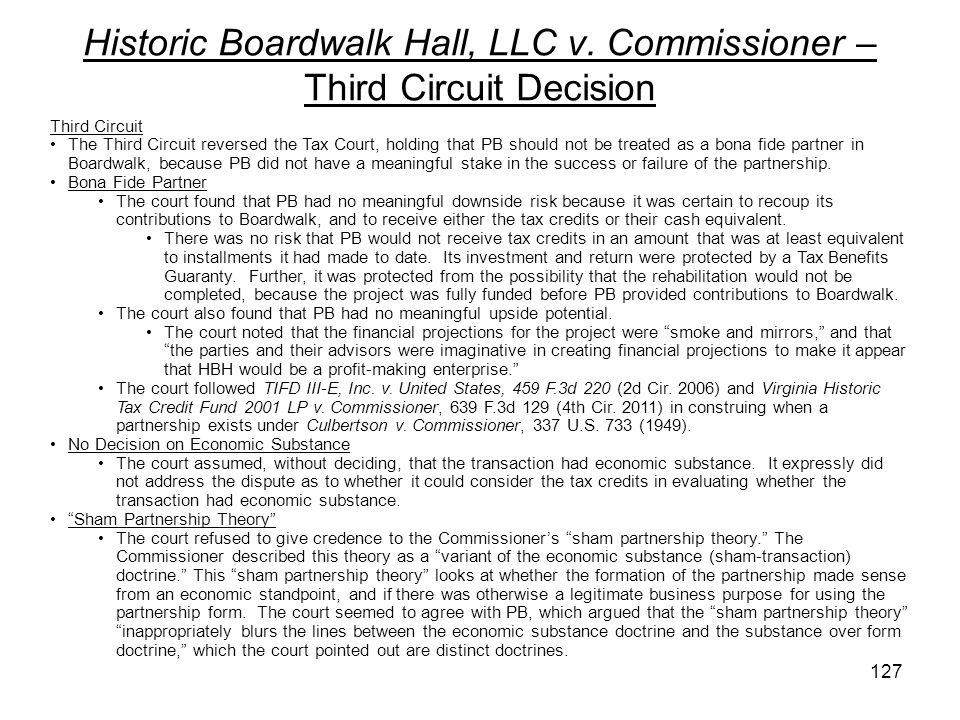 Historic Boardwalk Hall, LLC v. Commissioner – Third Circuit Decision