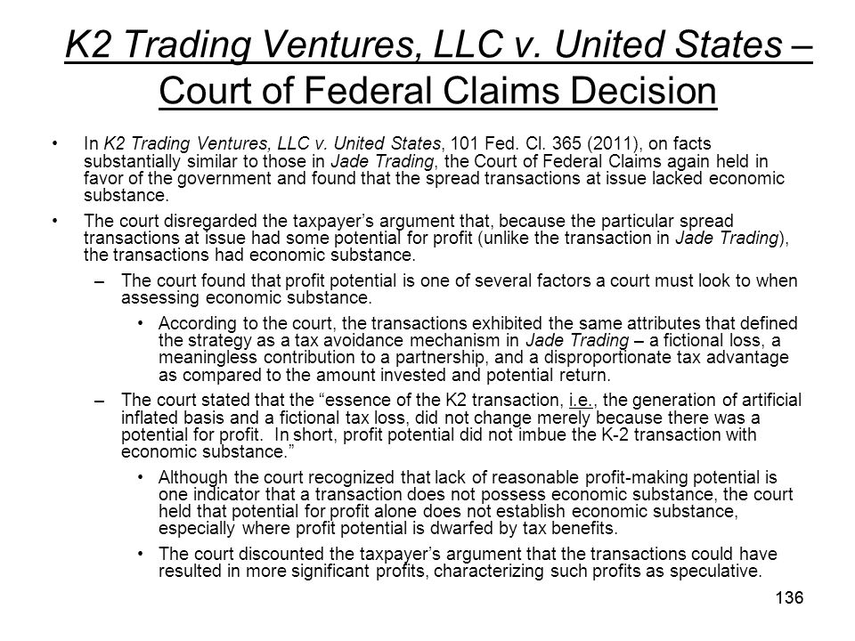 K2 Trading Ventures, LLC v