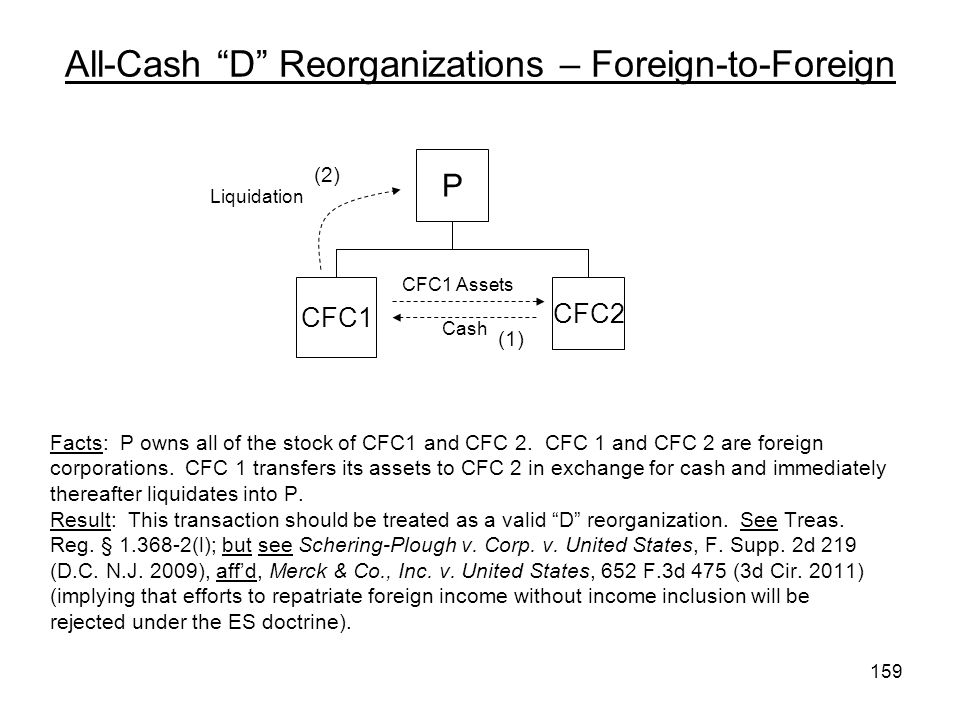 All-Cash D Reorganizations – Foreign-to-Foreign