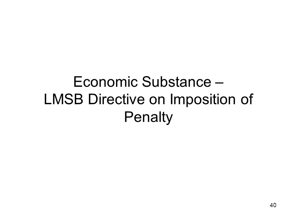 LMSB Directive on Imposition of Penalty