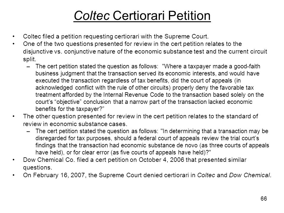 Coltec Certiorari Petition