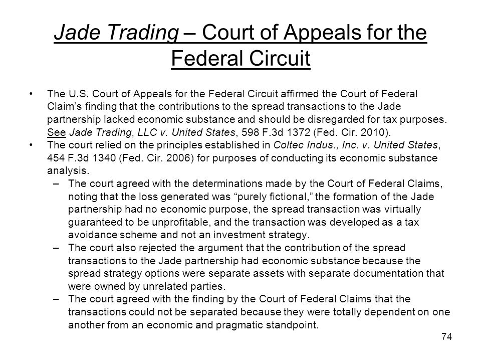 Jade Trading – Court of Appeals for the Federal Circuit