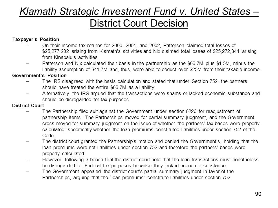 Klamath Strategic Investment Fund v