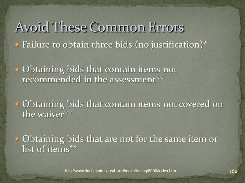 Avoid These Common Errors