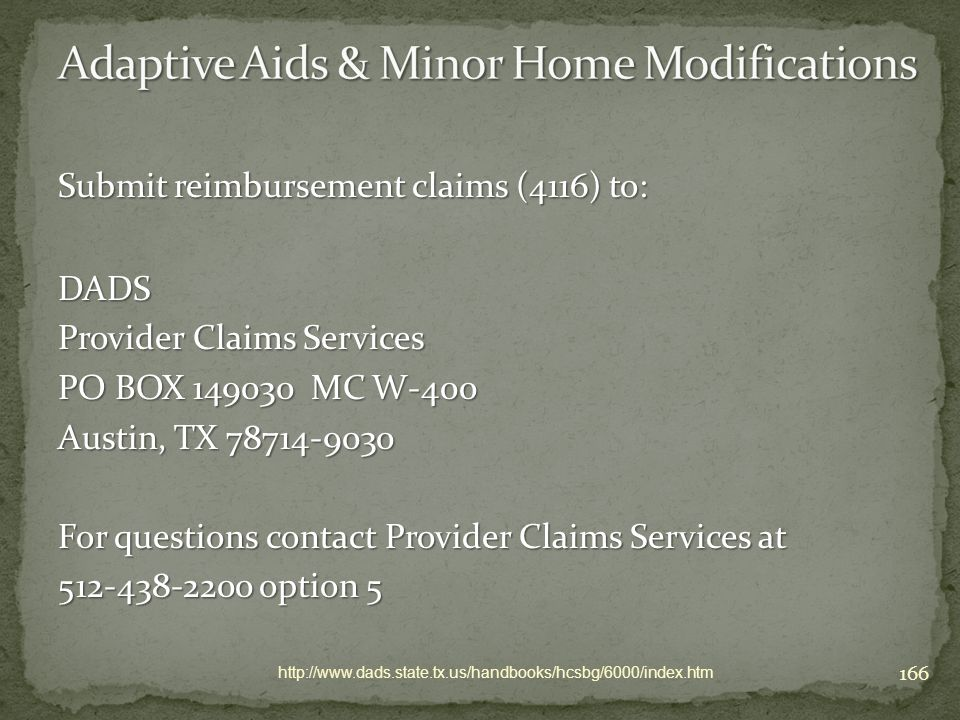 Adaptive Aids & Minor Home Modifications