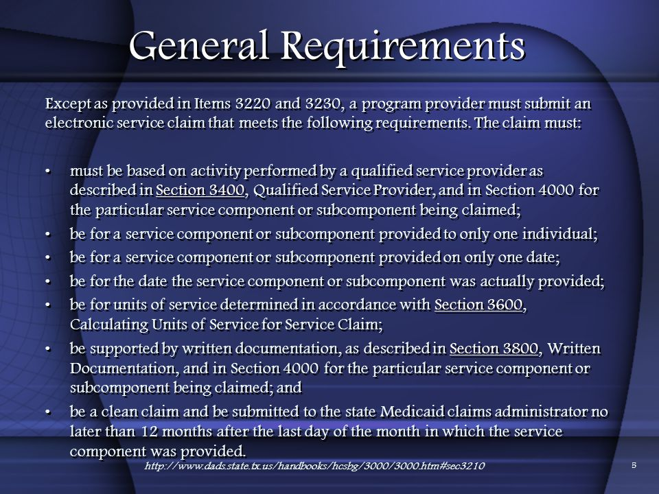 01/24/2012 General Requirements.