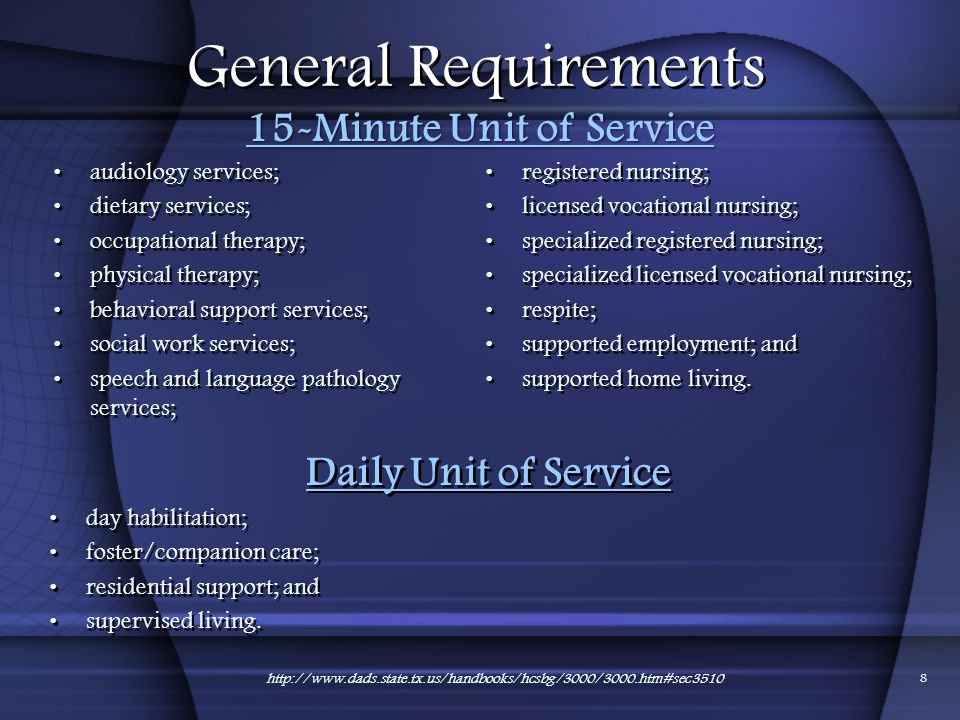 15-Minute Unit of Service