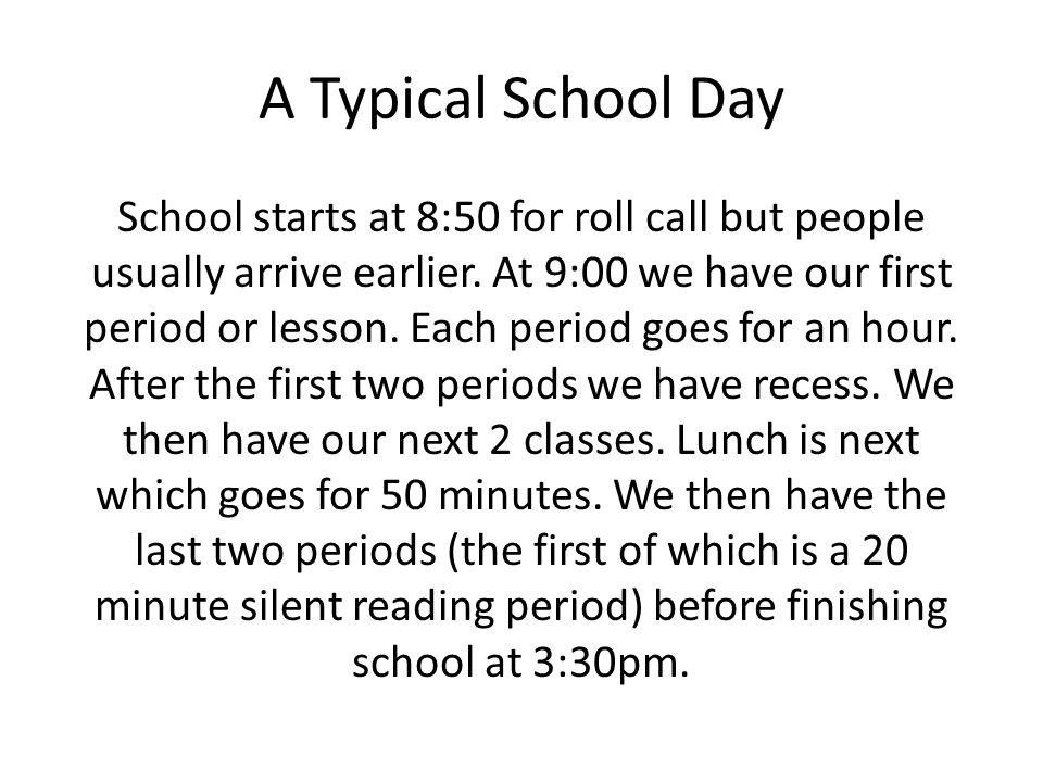 A Typical School Day