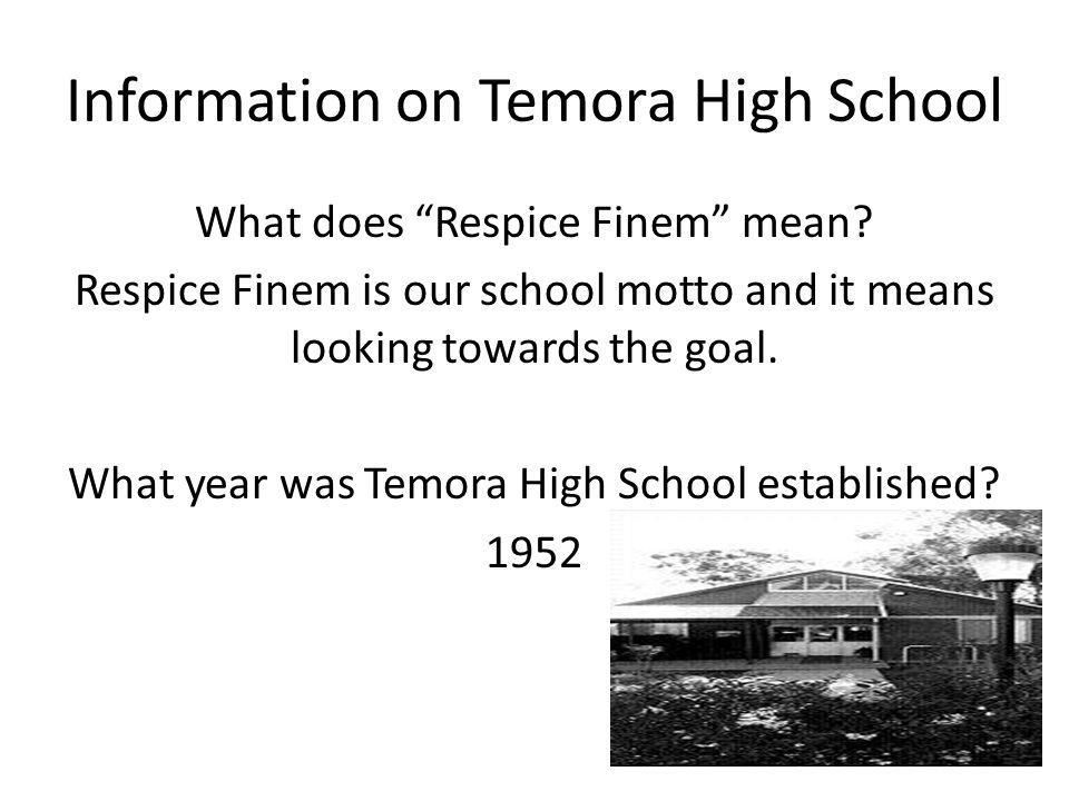 Information on Temora High School